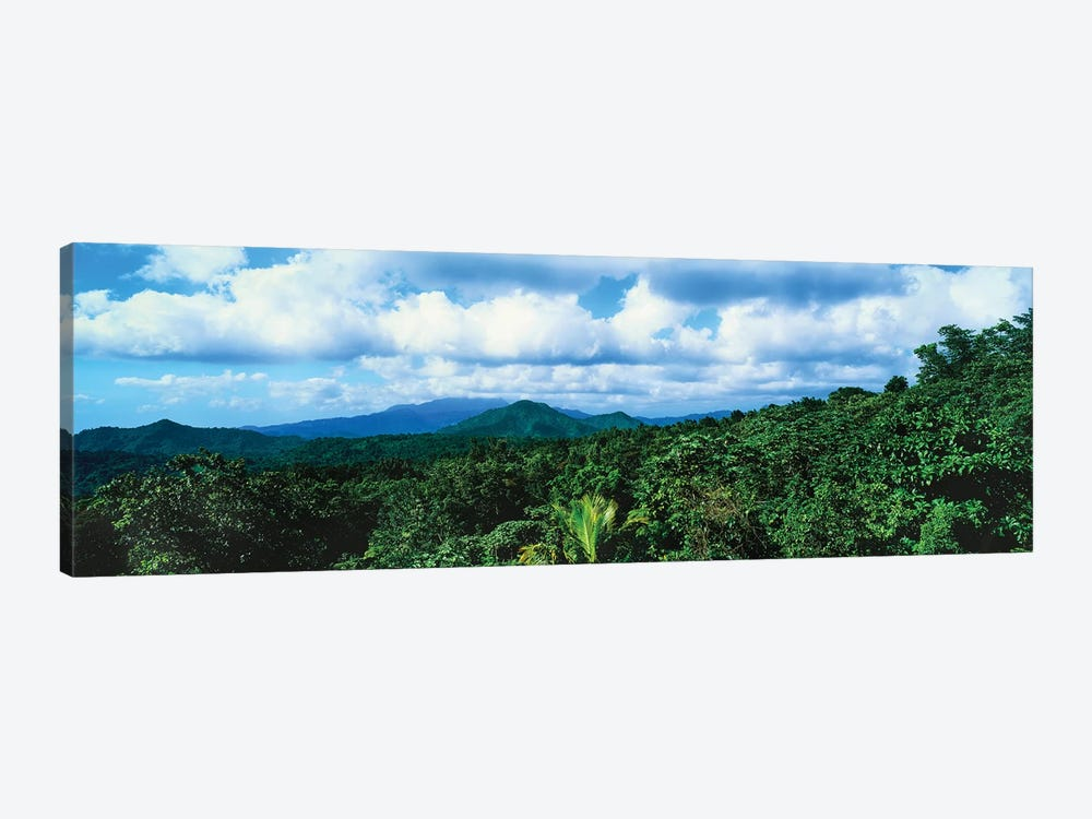 Clouds Over Mountain Range, Dominica, Caribbean by Panoramic Images 1-piece Canvas Wall Art
