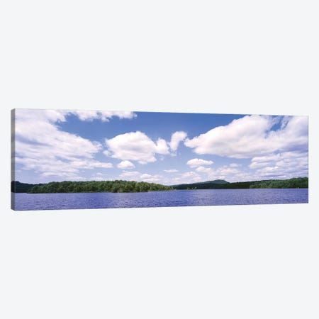 Clouds Over Oswegatchie River, Adirondack Mountains, Wanakena, New York State, USA Canvas Print #PIM14575} by Panoramic Images Canvas Artwork