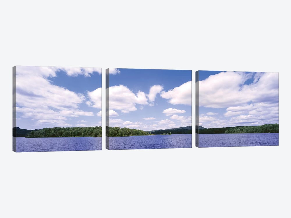 Clouds Over Oswegatchie River, Adirondack Mountains, Wanakena, New York State, USA 3-piece Canvas Art