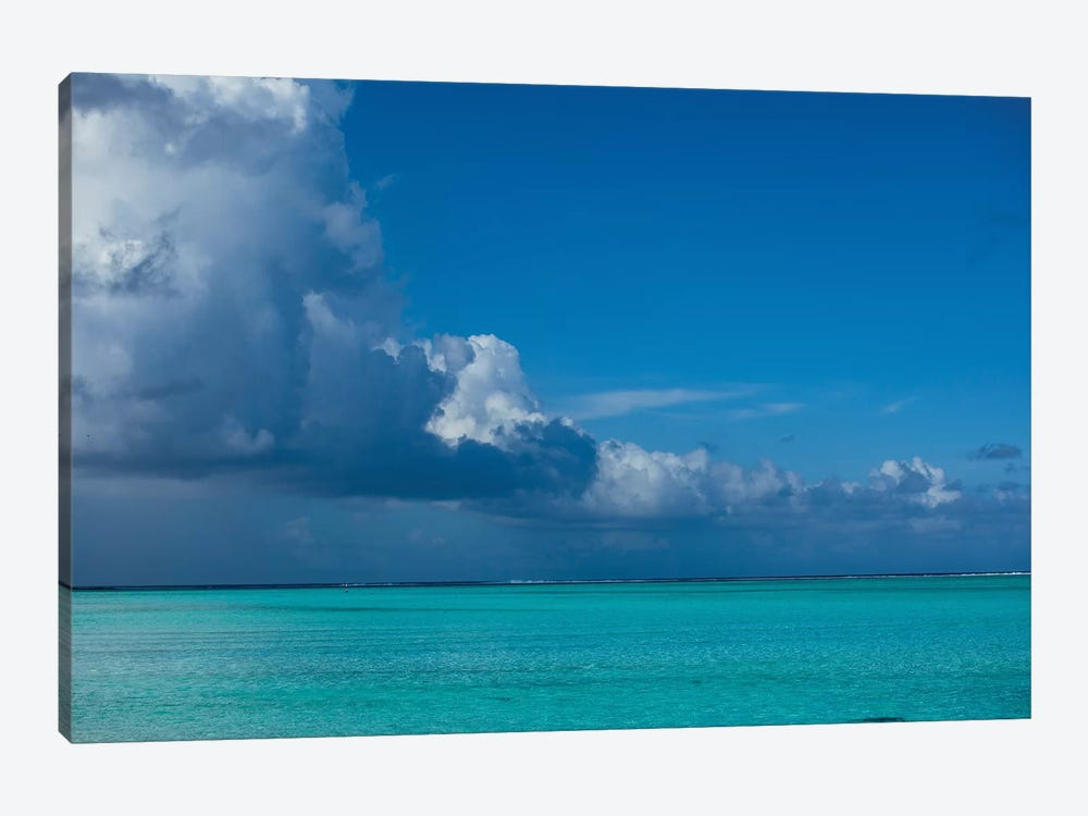 Clouds Over The Pacific Ocean, Bora Bora, Society Islands, French Polynesia I by Panoramic Images 1-piece Canvas Art Print