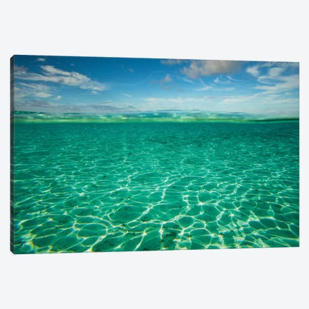 Clouds Over The Pacific Ocean, Bora Bora, Society Islands, French Polynesia II 3-Piece Canvas #PIM14579} by Panoramic Images Canvas Art Print