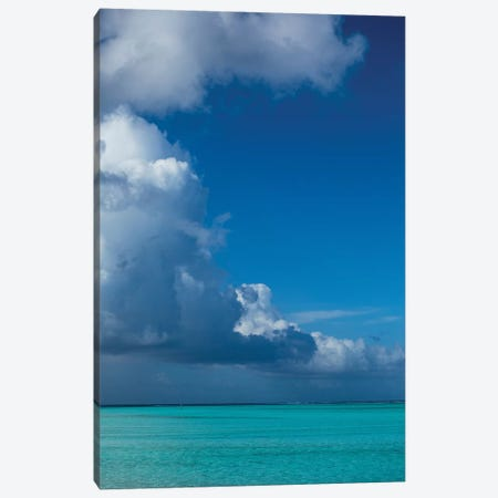 Clouds Over The Pacific Ocean, Bora Bora, Society Islands, French Polynesia III Canvas Print #PIM14580} by Panoramic Images Canvas Art