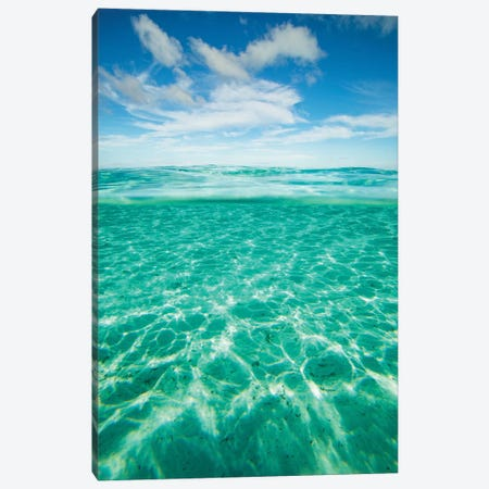 Clouds Over The Pacific Ocean, Bora Bora, Society Islands, French Polynesia IV 3-Piece Canvas #PIM14581} by Panoramic Images Canvas Art