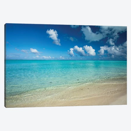 Clouds Over The Pacific Ocean, Bora Bora, Society Islands, French Polynesia V Canvas Print #PIM14582} by Panoramic Images Canvas Artwork