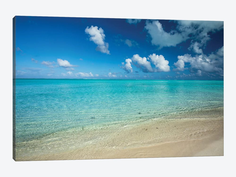 Clouds Over The Pacific Ocean, Bora Bora, Society Islands, French Polynesia V by Panoramic Images 1-piece Canvas Artwork