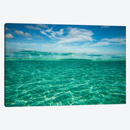 Clouds Over The Pacific Ocean, Bora Bora, Society Islands, French Polynesia VI 3-Piece Canvas #PIM14583} by Panoramic Images Canvas Art