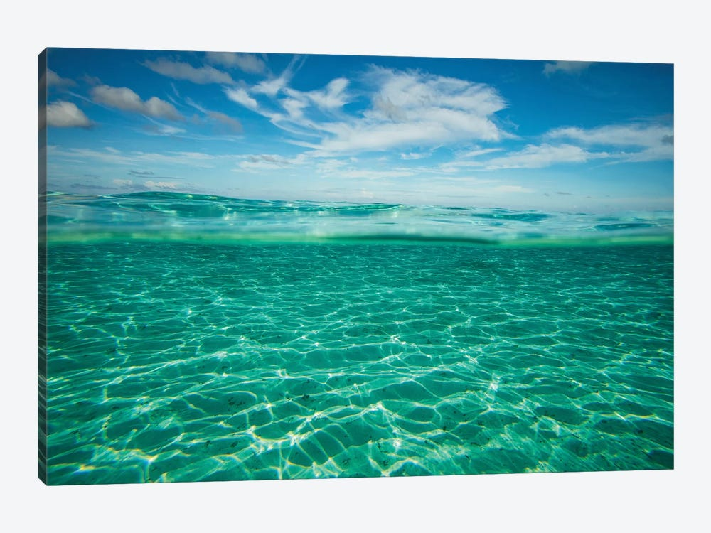 Clouds Over The Pacific Ocean, Bora Bora, Society Islands, French Polynesia VI by Panoramic Images 1-piece Canvas Art Print