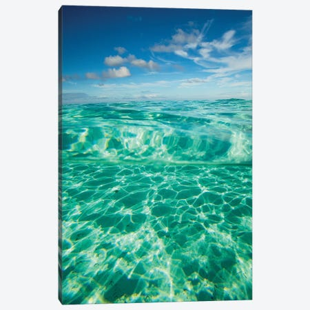 Clouds Over The Pacific Ocean, Bora Bora, Society Islands, French Polynesia VII Canvas Print #PIM14584} by Panoramic Images Art Print
