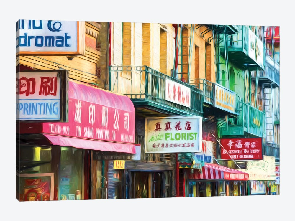 Clutter Of Business Signs, Chinatown, San Francisco, California, USA by Panoramic Images 1-piece Canvas Wall Art