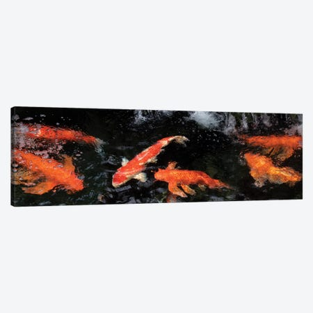 Colorful Koi Fish V Canvas Print #PIM14594} by Panoramic Images Canvas Art