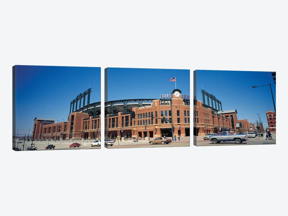 Coors Field, Denver, Colorado, USA, 1995 by Panoramic Images 3-piece Canvas Art