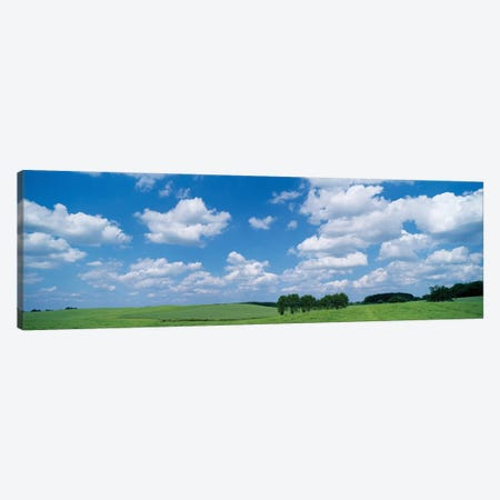 Cumulus Clouds Over A Landscape, Germany Canvas Print #PIM14604} by Panoramic Images Canvas Artwork
