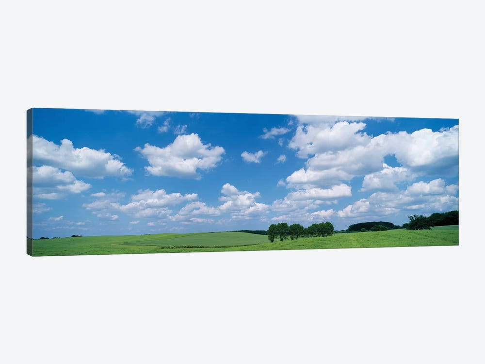 Cumulus Clouds Over A Landscape, Germany by Panoramic Images 1-piece Canvas Artwork