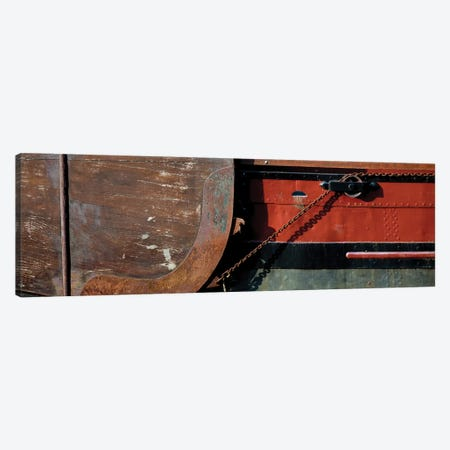 Details Of A Dutch Boat, Holland Canvas Print #PIM14605} by Panoramic Images Canvas Wall Art