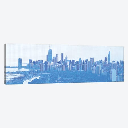 Digital Sketch Of Chicago Skyline, USA VI Canvas Print #PIM14611} by Panoramic Images Canvas Artwork