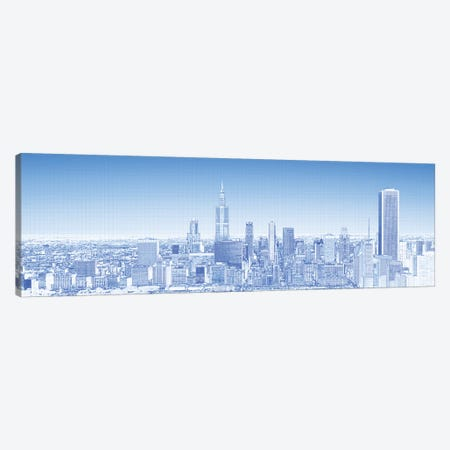 Digital Sketch Of Chicago Skyline, USA VII Canvas Print #PIM14612} by Panoramic Images Canvas Artwork