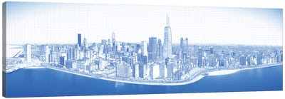 Digital Sketch Of Chicago Skyline, USA VIII Canvas Art Print