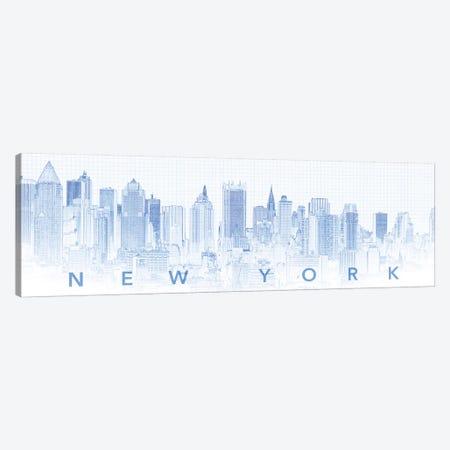 Digital Sketch Of Manhattan Skyline, NYC, USA I Canvas Print #PIM14614} by Panoramic Images Canvas Art Print