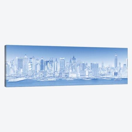 Digital Sketch Of Manhattan Skyline, NYC, USA III Canvas Print #PIM14616} by Panoramic Images Canvas Print