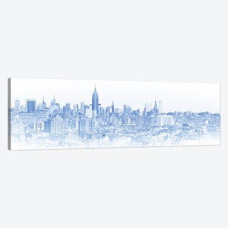 Digital Sketch Of Manhattan Skyline, NYC, USA IV Canvas Print #PIM14617} by Panoramic Images Canvas Art Print
