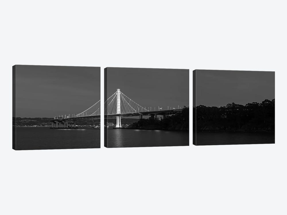 Eastern Span Replacement Of The San Francisco–Oakland Bay Bridge, California, USA by Panoramic Images 3-piece Canvas Wall Art