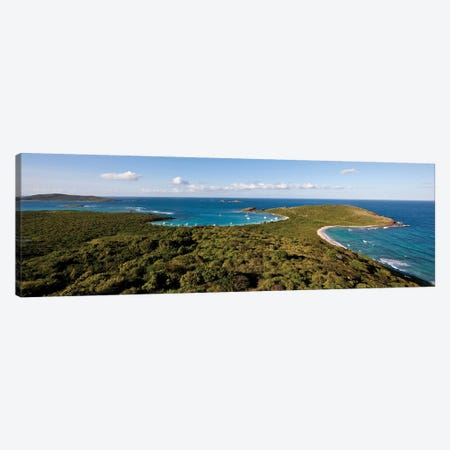 Elevated View Of Beach, Culebra Island, Puerto Rico I Canvas Print #PIM14625} by Panoramic Images Canvas Artwork