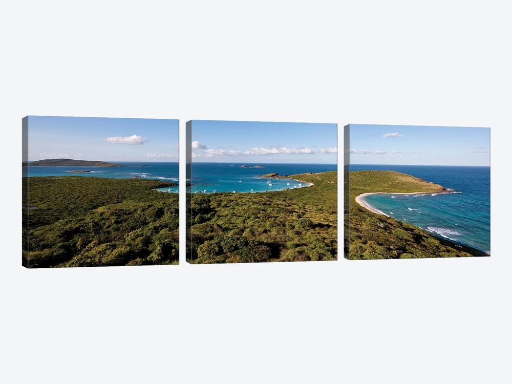 Elevated View Of Beach, Culebra Island, Puerto Rico I by Panoramic Images 3-piece Canvas Art Print