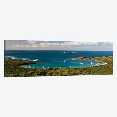 Elevated View Of Beach, Culebra Island, Puerto Rico II Canvas Print #PIM14626} by Panoramic Images Canvas Wall Art