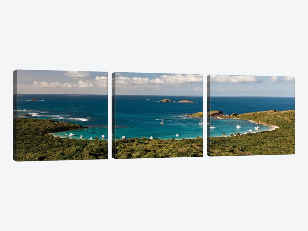 Elevated View Of Beach, Culebra Island, Puerto Rico II by Panoramic Images 3-piece Canvas Artwork
