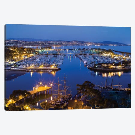 Elevated View Of Dana Point Harbor, Orange County, California, USA Canvas Print #PIM14627} by Panoramic Images Canvas Art