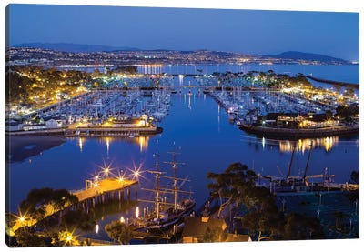 Elevated View Of Dana Point Harbor, Orange County, California, USA Canvas Art Print