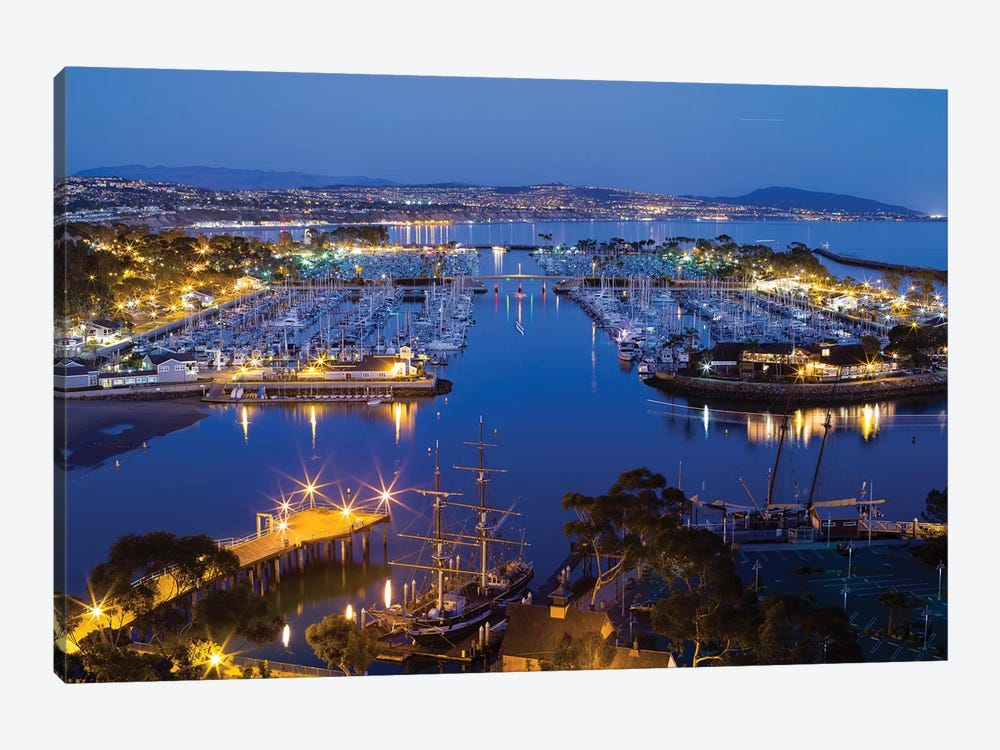 Elevated View Of Dana Point Harbor, Orange County, California, USA by Panoramic Images 1-piece Canvas Print