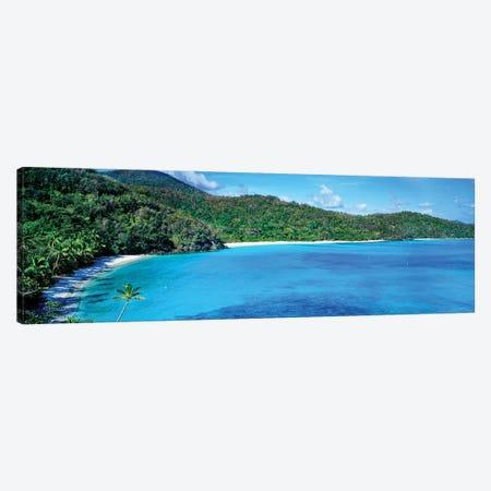 Elevated View Of Hawksnest Bay, Saint John, U.S. Virgin Islands Canvas Print #PIM14628} by Panoramic Images Canvas Art Print