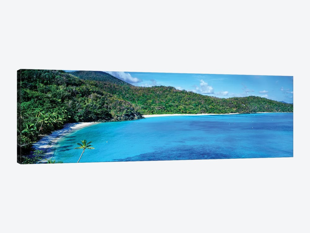 Elevated View Of Hawksnest Bay, Saint John, U.S. Virgin Islands by Panoramic Images 1-piece Canvas Wall Art