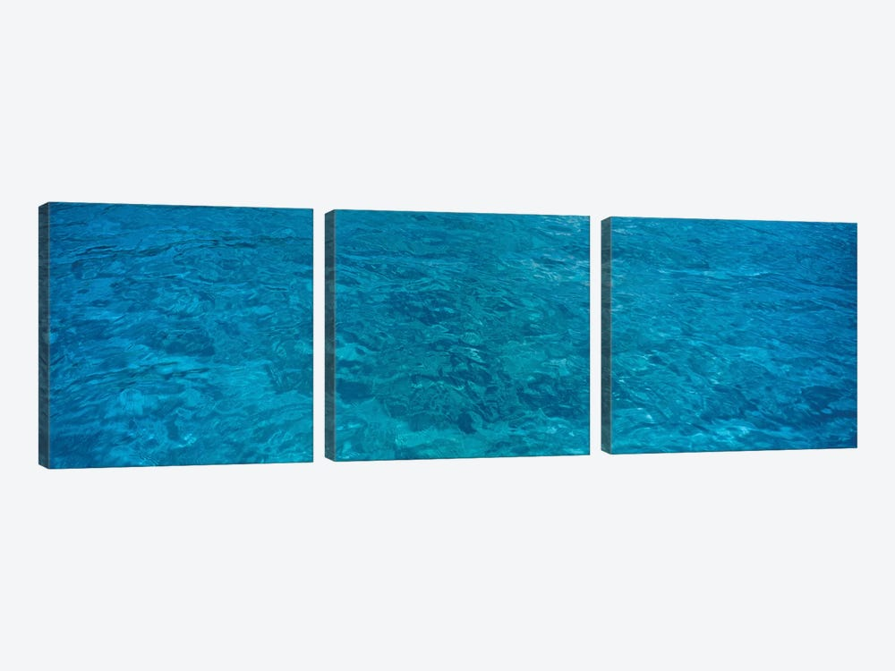 Elevated View Of Rippled Water In Caribbean Sea by Panoramic Images 3-piece Canvas Art Print