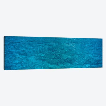 Elevated View Of Rippled Water In Caribbean Sea 3-Piece Canvas #PIM14629} by Panoramic Images Canvas Print