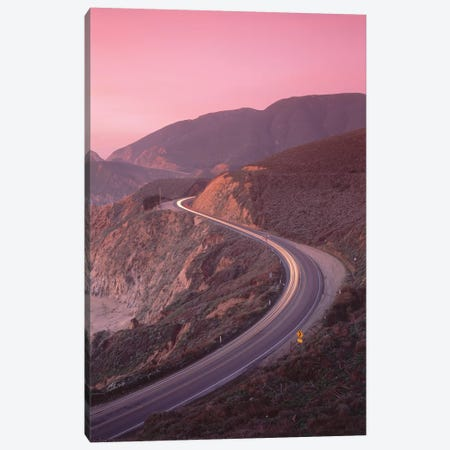 Elevated View Of The California State Route 1 At Dusk, Pacific Coast, California, USA Canvas Print #PIM14630} by Panoramic Images Canvas Wall Art