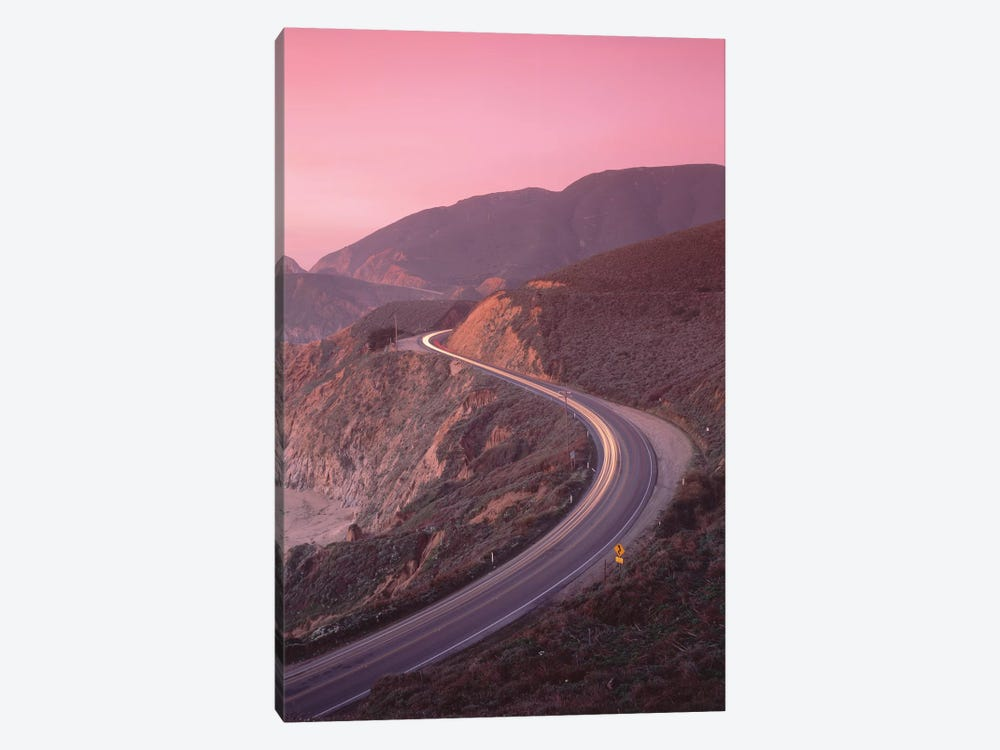 Elevated View Of The California State Route 1 At Dusk, Pacific Coast, California, USA by Panoramic Images 1-piece Art Print