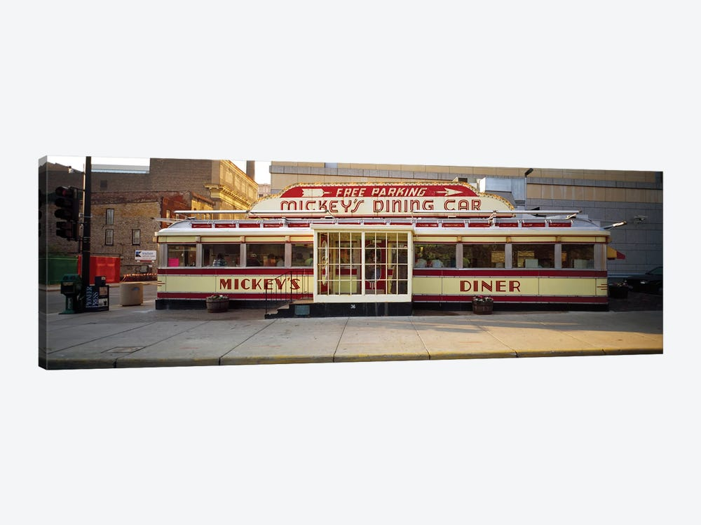 Facade Of Mickey's Diner Restaurant by Panoramic Images 1-piece Canvas Print
