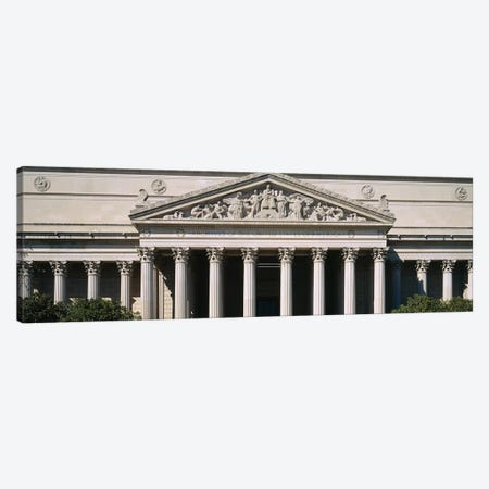 Facade Of The National Archives Building, Washington D.C., USA Canvas Print #PIM14637} by Panoramic Images Canvas Print