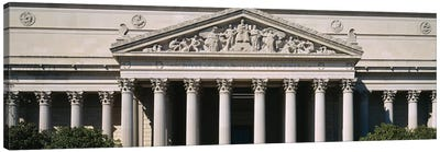 Facade Of The National Archives Building, Washington D.C., USA Canvas Art Print
