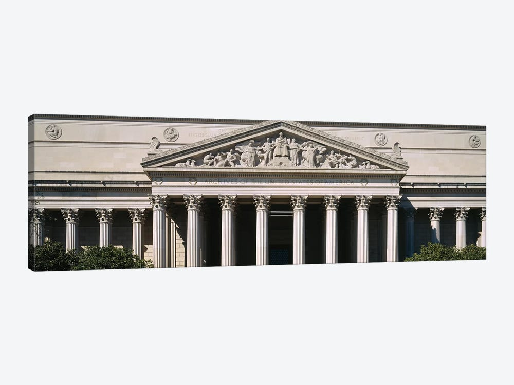 Facade Of The National Archives Building, Washington D.C., USA by Panoramic Images 1-piece Canvas Art