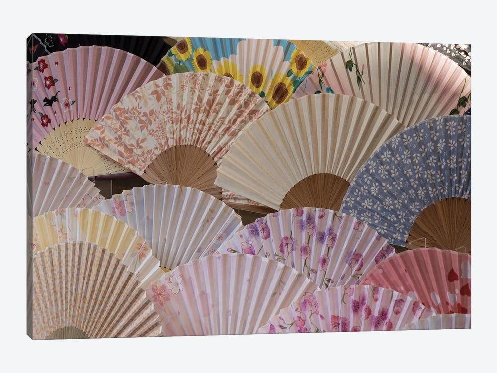 Fans For Sale At A Market Stall, Kyoto Prefecture, Japan by Panoramic Images 1-piece Art Print