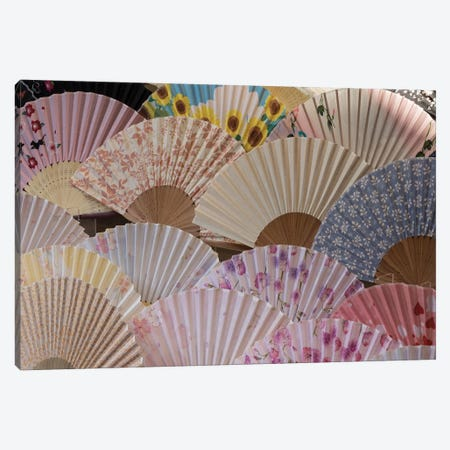 Fans For Sale At A Market Stall, Kyoto Prefecture, Japan Canvas Print #PIM14645} by Panoramic Images Canvas Artwork