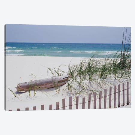 Fence On The Beach, Alabama, Gulf Of Mexico, USA Canvas Print #PIM14649} by Panoramic Images Canvas Print