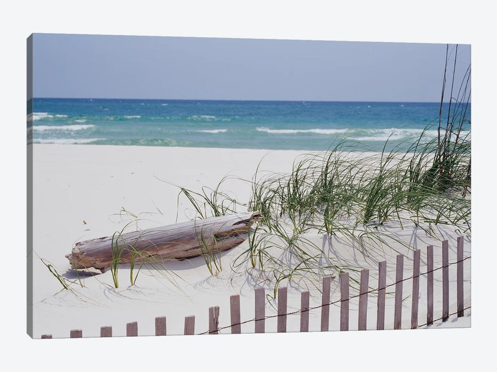 Fence On The Beach, Alabama, Gulf Of Mexico, USA by Panoramic Images 1-piece Canvas Print