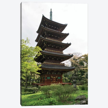 Five-Storied Pagoda At Ueno Park, Tokyo, Japan Canvas Print #PIM14658} by Panoramic Images Canvas Artwork