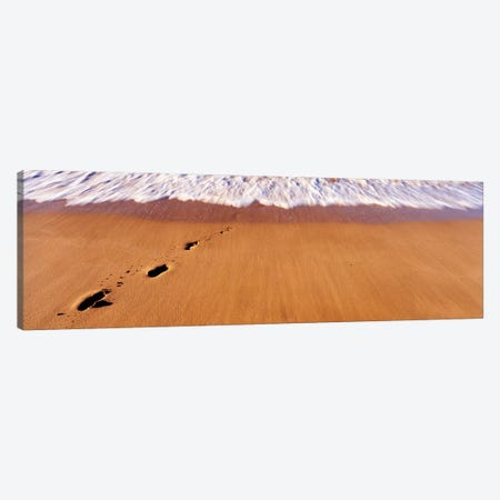 Footprints In Sand On The Beach, Hawaii, USA Canvas Print #PIM14662} by Panoramic Images Art Print