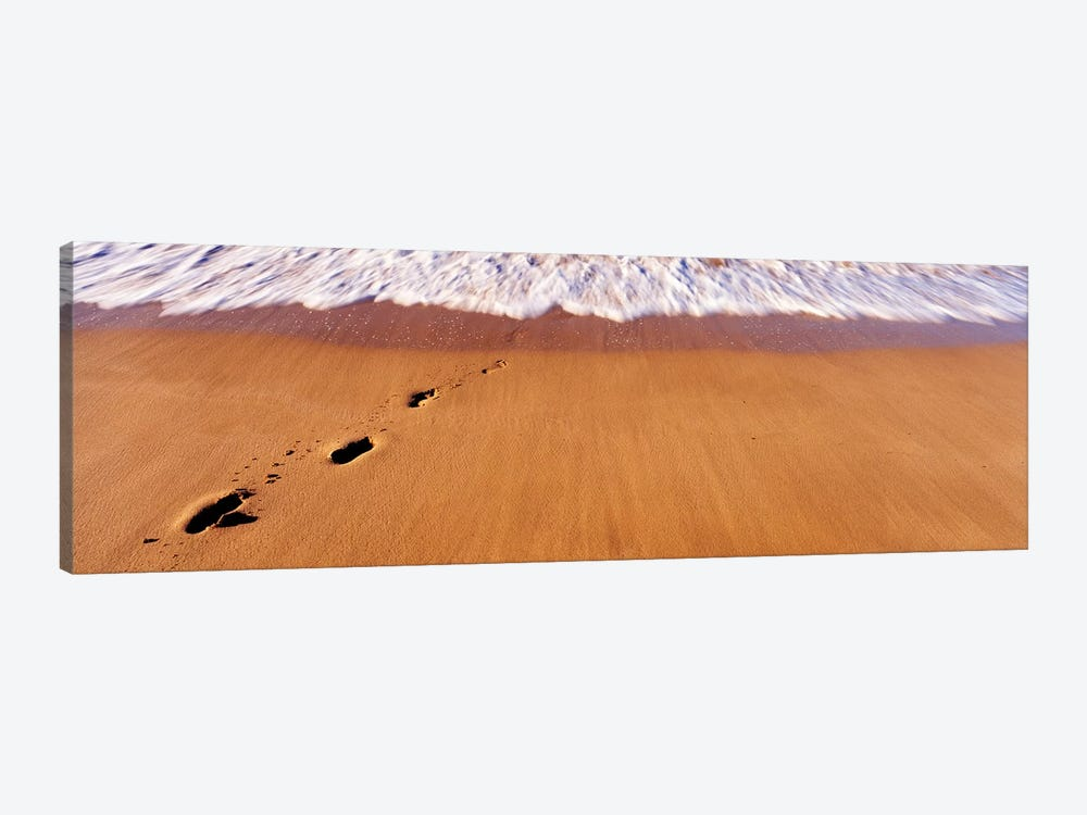 Footprints In Sand On The Beach, Hawaii, USA by Panoramic Images 1-piece Canvas Wall Art