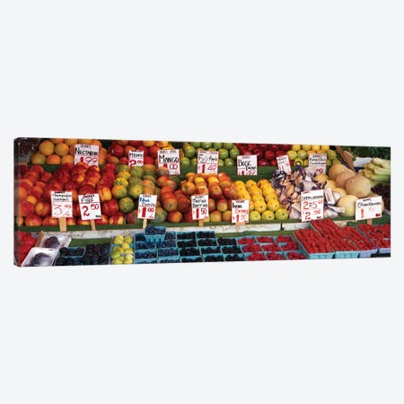 Fruits At A Market Stall, Pike Place Market, Seattle, King County, Washington State, USA Canvas Print #PIM14665} by Panoramic Images Canvas Art